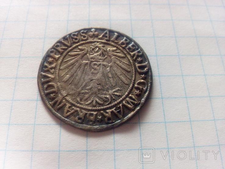 Грошен 1541 Альбрехт Герцогство Прусія, фото №6
