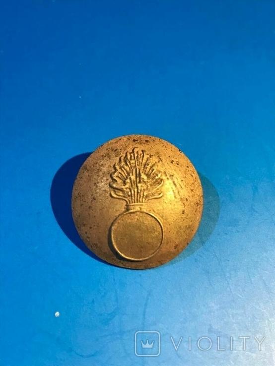 Пуговица гренадерского полка царской армии, фото №3