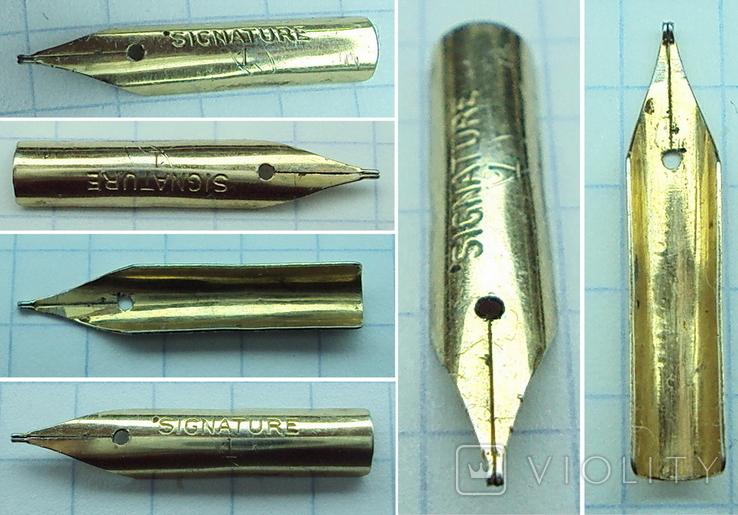 Перо чернильной ручки - Signature 1 (золотое-?), фото №2