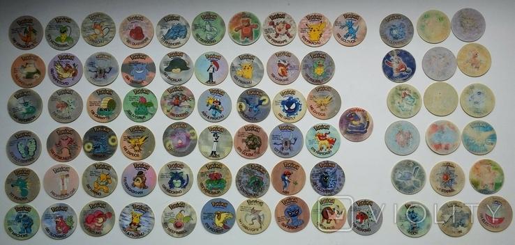 Коллекция Pokémon (Покемоны) фишки (вкладыши)., фото №2