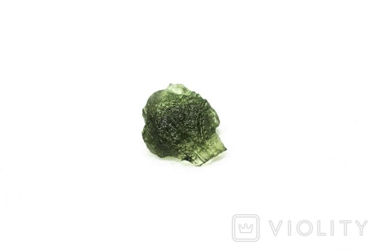 Імпактне тіло, тектит Moldavite, 0,51 грам із сертифікатом автентичності, фото №2