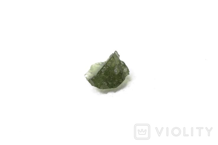 Імпактне тіло, тектит Moldavite, 0,51 грам із сертифікатом автентичності, фото №9