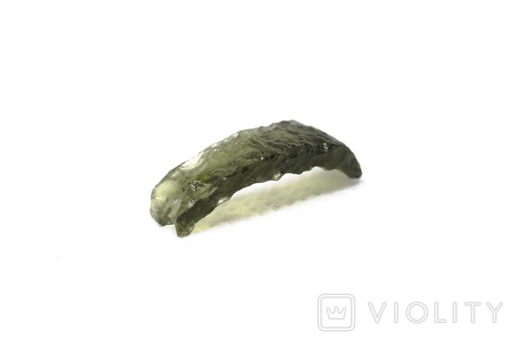 Імпактне тіло, тектит Moldavite, 0,68 грам із сертифікатом автентичності, фото №7