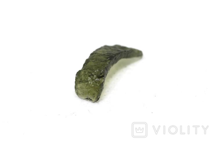 Імпактне тіло, тектит Moldavite, 0,68 грам із сертифікатом автентичності, фото №9