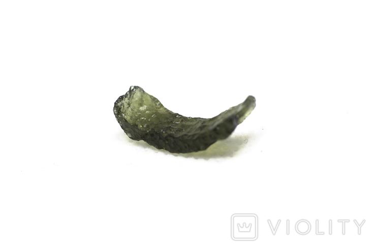 Імпактне тіло, тектит Moldavite, 0,68 грам із сертифікатом автентичності, фото №11