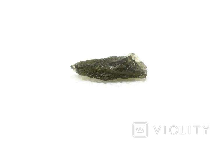 Імпактне тіло, тектит Moldavite, 0,48 грам із сертифікатом автентичності, фото №6