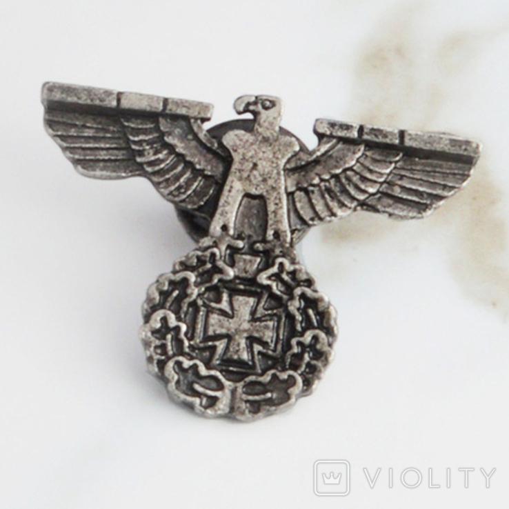 Винтажный крест брошь с орлом Реплика, фото №6