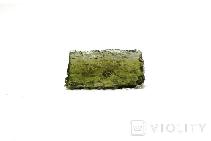 Імпактне тіло, тектит Moldavite, 0,56 грам із сертифікатом автентичності, фото №2