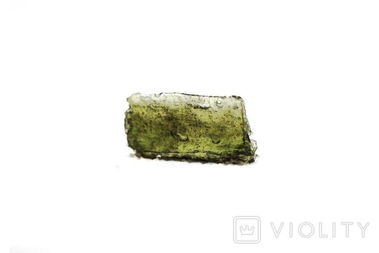 Імпактне тіло, тектит Moldavite, 0,56 грам із сертифікатом автентичності, фото №8