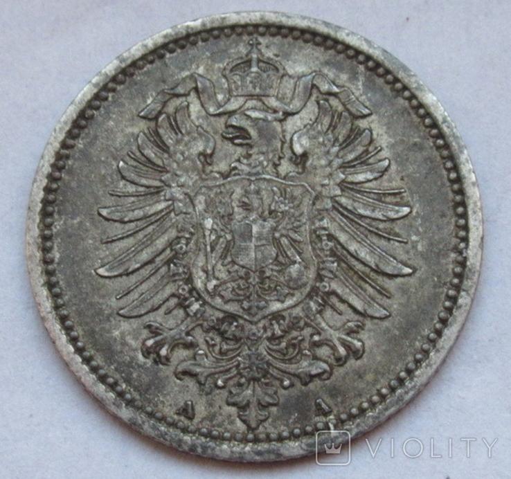 20 пфеннигов 1876 (А), Германия, серебро, фото №8