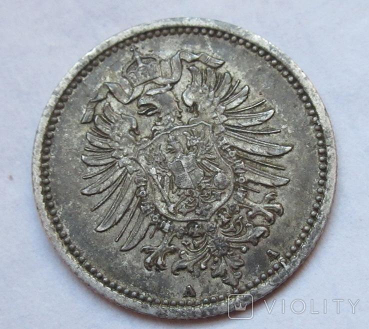 20 пфеннигов 1876 (А), Германия, серебро, фото №10