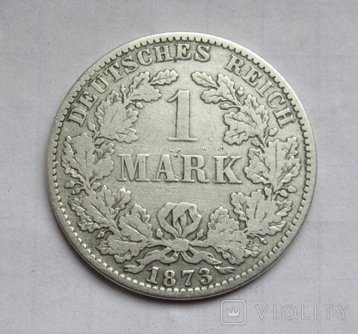1 марка 1873 г. (А) Германия, серебро, фото №6