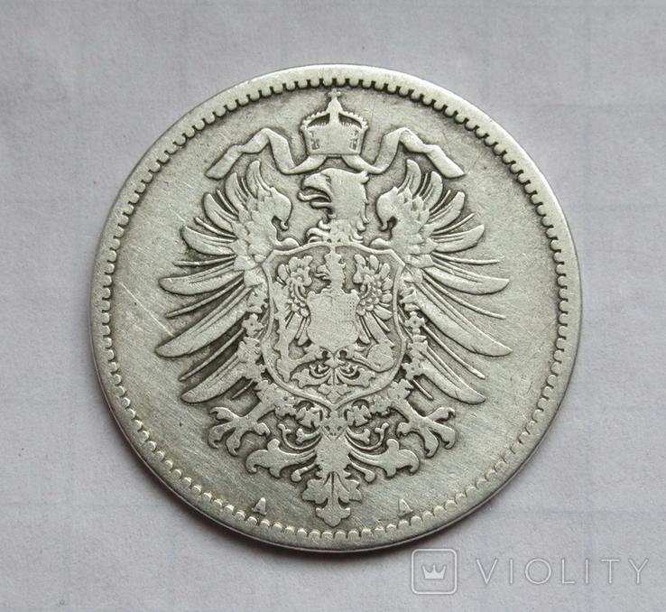 1 марка 1873 г. (А) Германия, серебро, фото №11