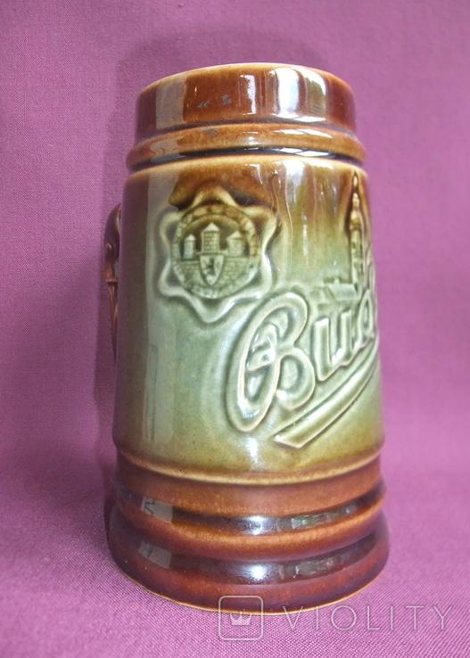 Кружка для пива Настоящий Budvar - БУДВАР крепкое пиво. Чехословакия 60-70е годы., фото №3