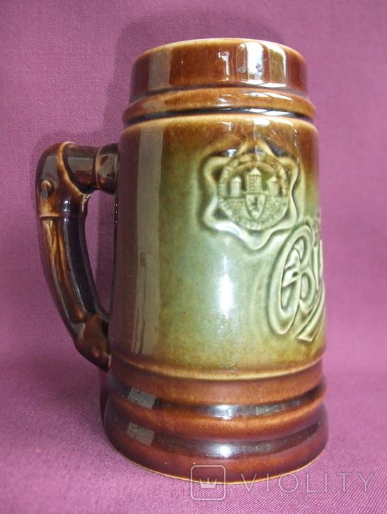 Кружка для пива Настоящий Budvar - БУДВАР крепкое пиво. Чехословакия 60-70е годы., фото №4