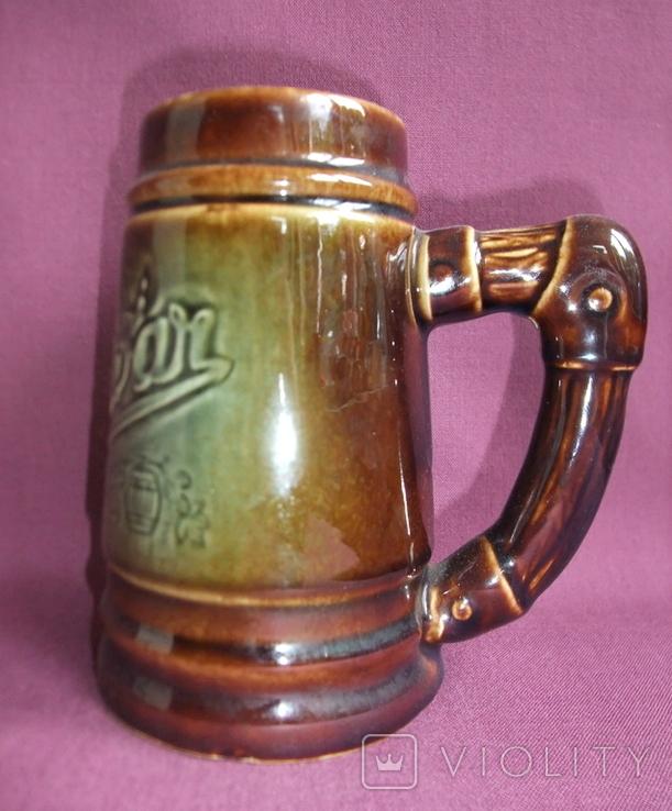 Кружка для пива Настоящий Budvar - БУДВАР крепкое пиво. Чехословакия 60-70е годы., фото №6