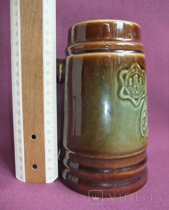 Кружка для пива Настоящий Budvar - БУДВАР крепкое пиво. Чехословакия 60-70е годы., фото №7
