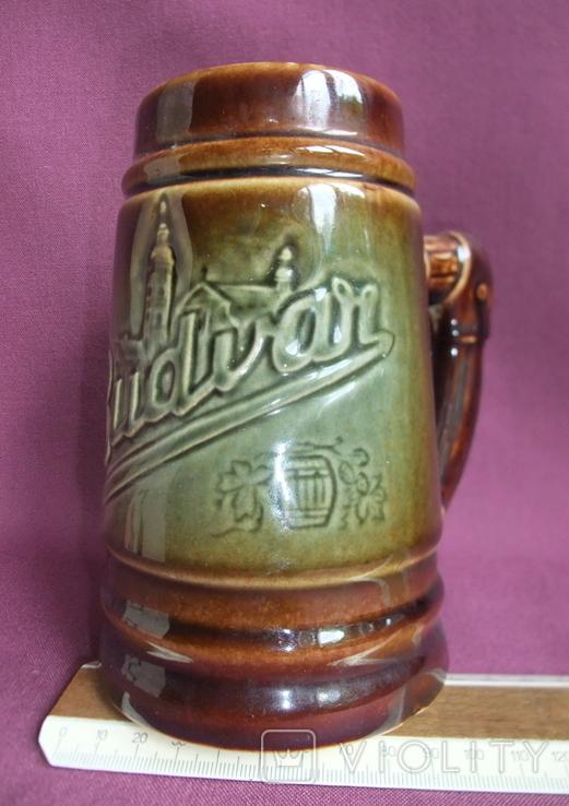 Кружка для пива Настоящий Budvar - БУДВАР крепкое пиво. Чехословакия 60-70е годы., фото №10