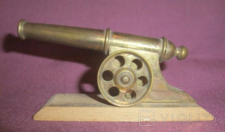 Пушка на лафете - настольный сувенир из СССР., фото №3