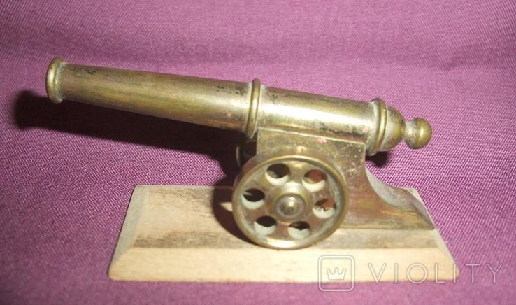 Пушка на лафете - настольный сувенир из СССР., фото №4