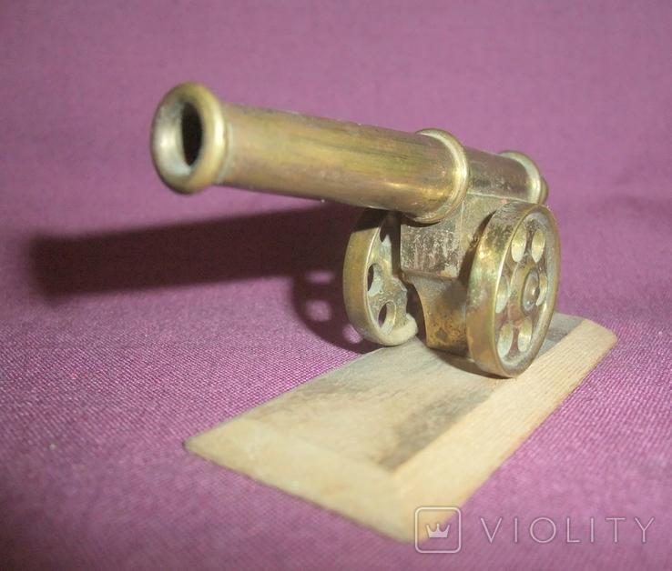 Пушка на лафете - настольный сувенир из СССР., фото №5