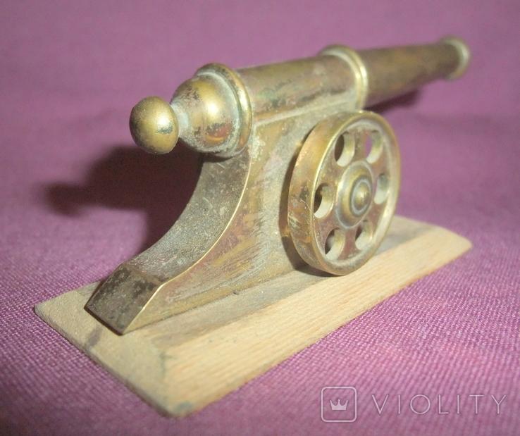 Пушка на лафете - настольный сувенир из СССР., фото №6