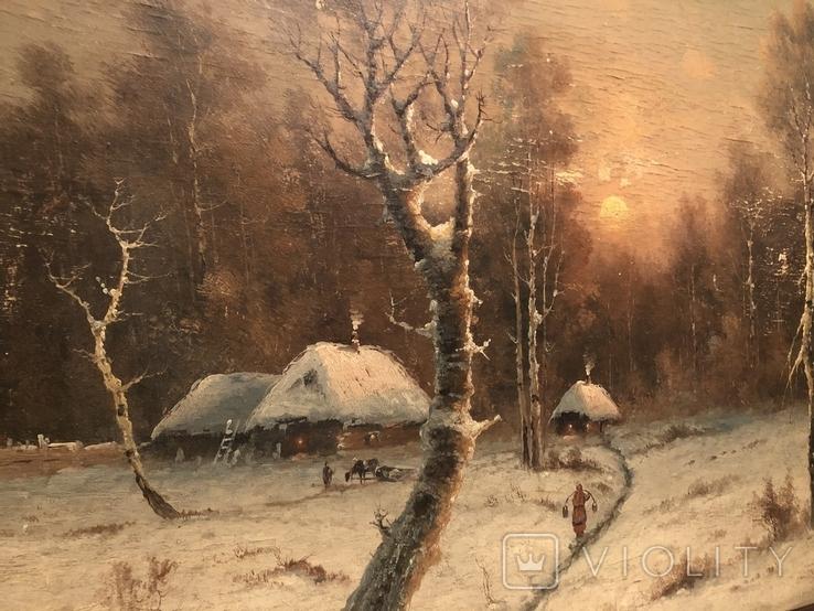 Зимний пейзаж. Неизвестный художник, фото №4