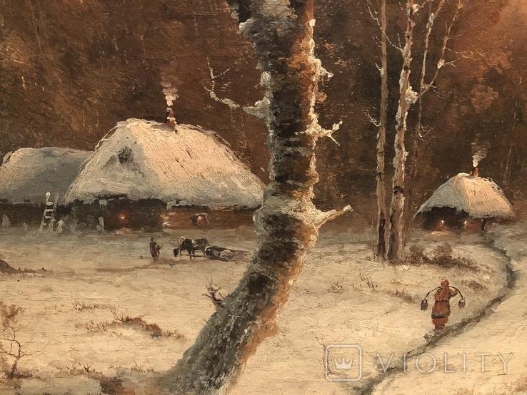 Зимний пейзаж. Неизвестный художник, фото №5