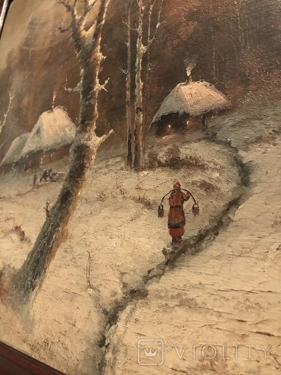 Зимний пейзаж. Неизвестный художник, фото №6