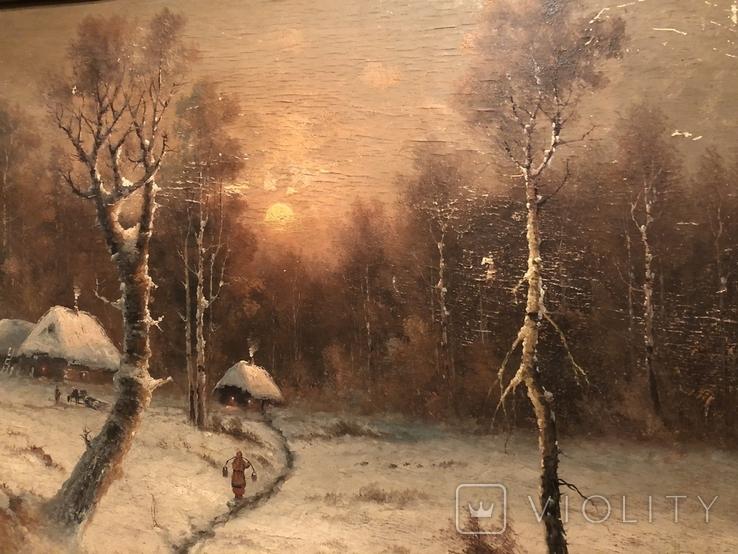 Зимний пейзаж. Неизвестный художник, фото №7
