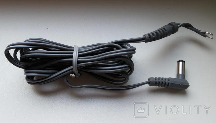Шнур питания DC штекер 5,5x2,0 угловой 1,8м серый 24 шт, фото №2