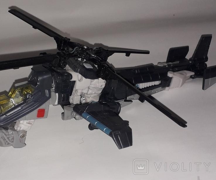 Вертолёт трансформер на запчасти длина 24 см., фото №6
