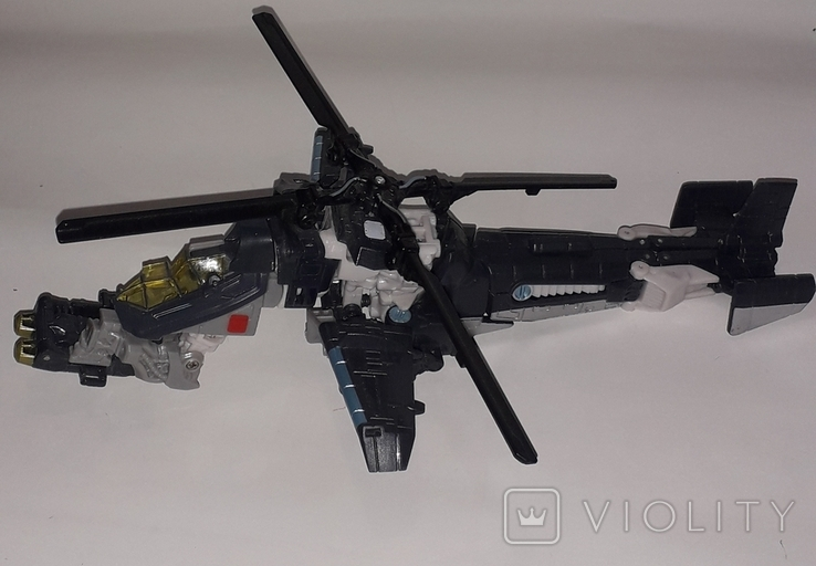 Вертолёт трансформер на запчасти длина 24 см., фото №2