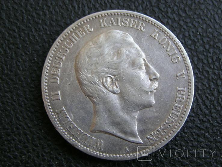 5 марок 1907 А Пруссия, фото №2