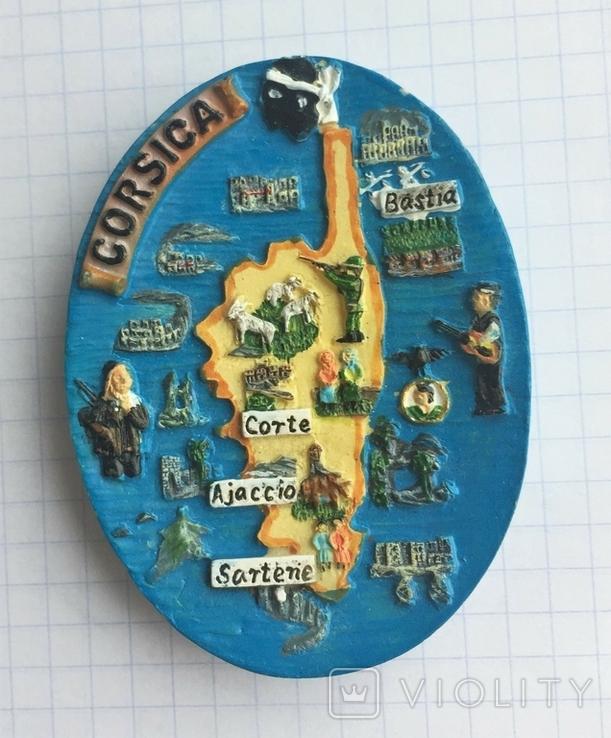 Магнит на холодильник Корсика, Франция, фото №2