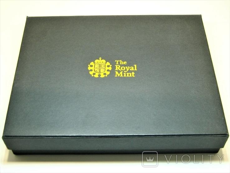 Набор золотых монет Эмблемы Великобритании 2008 г., фото №3