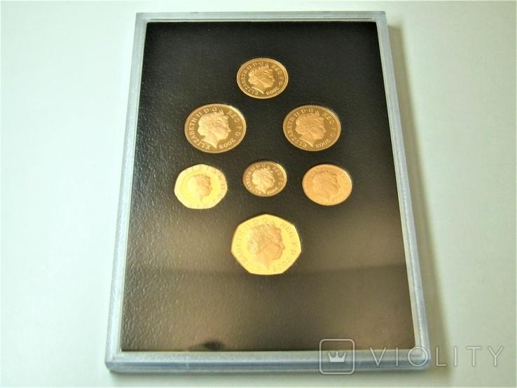 Набор золотых монет Эмблемы Великобритании 2008 г., фото №10