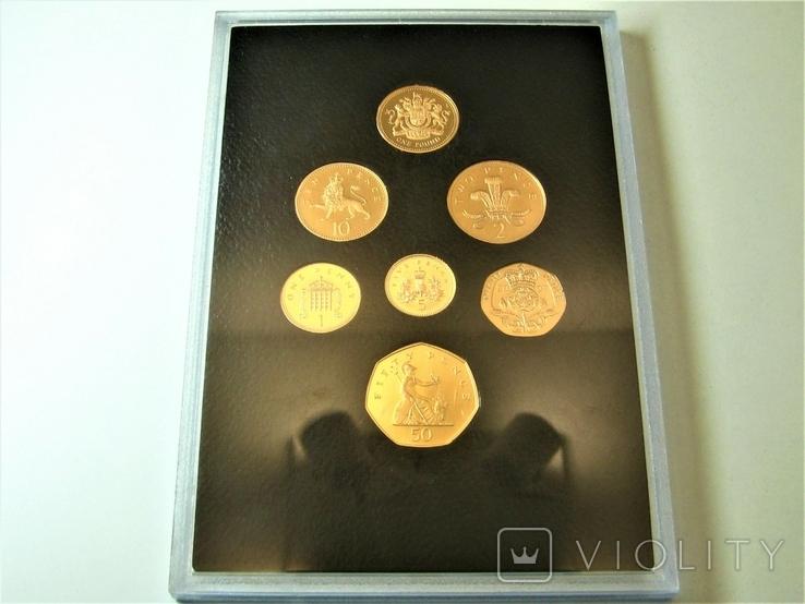 Набор золотых монет Эмблемы Великобритании 2008 г., фото №11