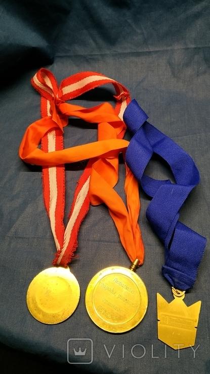 3-и медали, сувенирные., фото №3