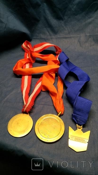 3-и медали, сувенирные., фото №4