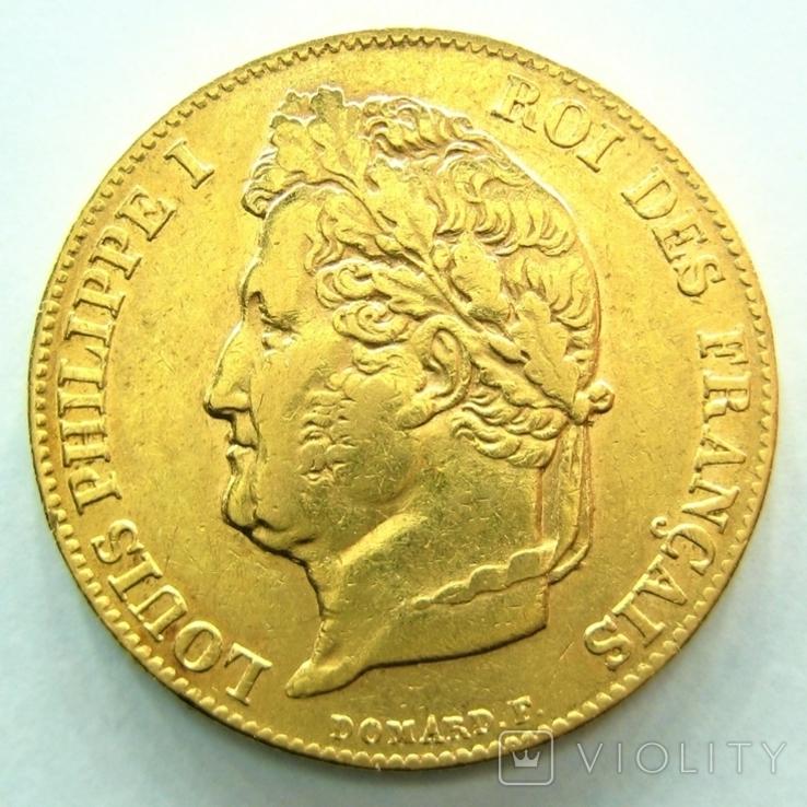 Франция 20 франков 1839 г.
