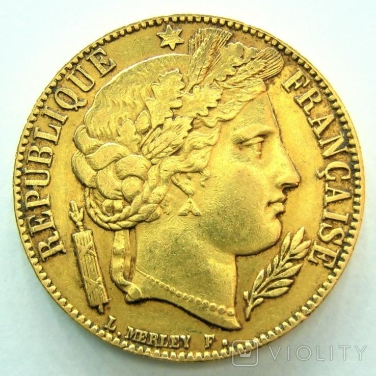 Франция 20 франков 1851 г.