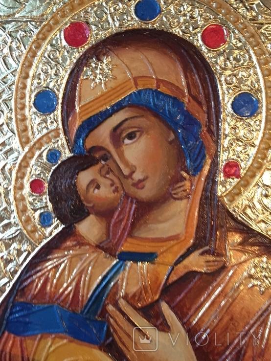 Икона БМ Владимирская, фото №3