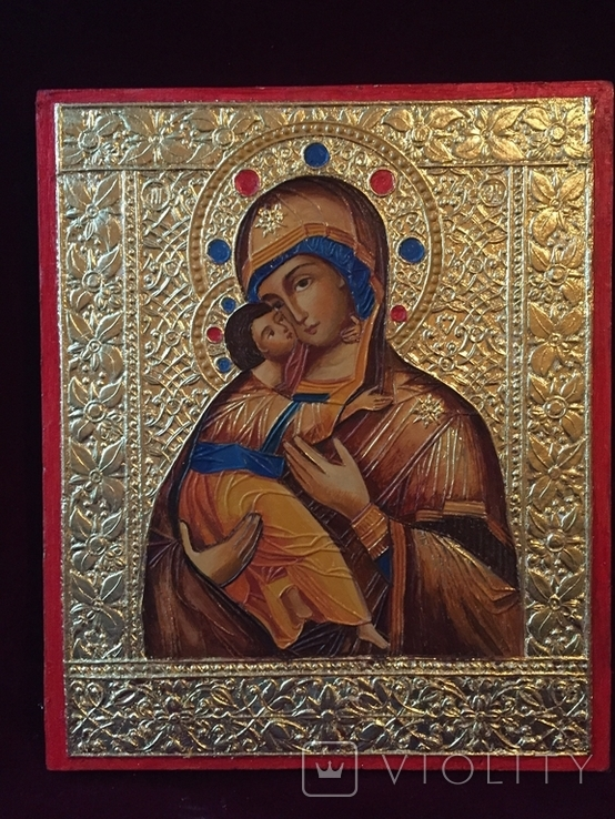 Икона БМ Владимирская, фото №6