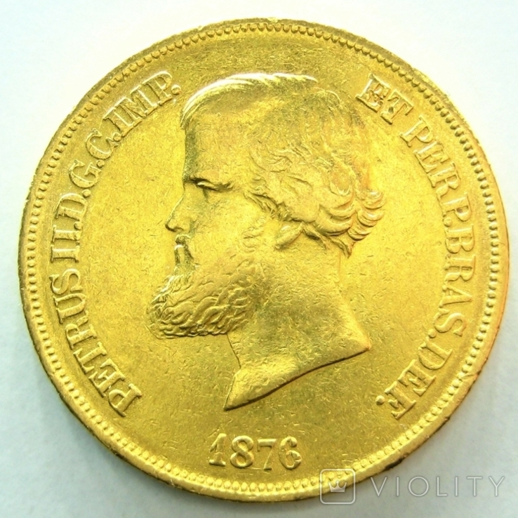 Бразилия 10000 рейс 1876 г.
