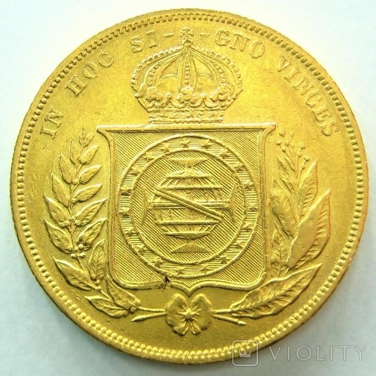 Бразилия 10000 рейс 1876 г., фото №3