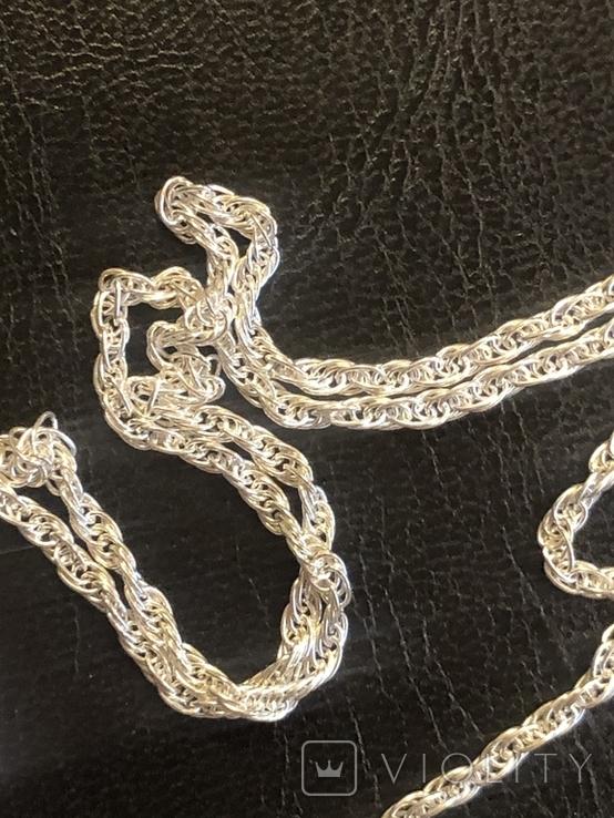 Серебряная цепочка. Новая, фото №5