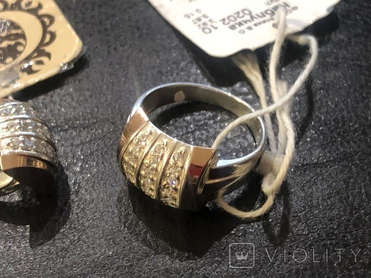 Комплект . Серебро и золото. Новый, фото №4