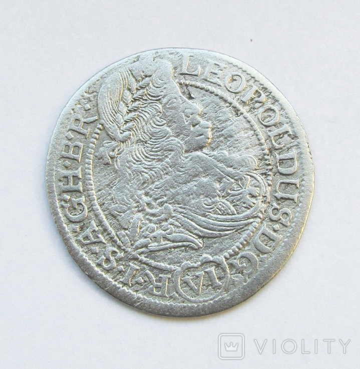 6 крейцеров 1674 г (SHS) Силезия г Вроцлав