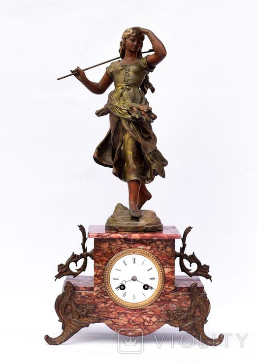 Каминные часы, 19й век, Франция